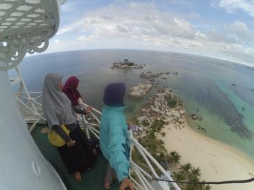 View dari atas mercusuar